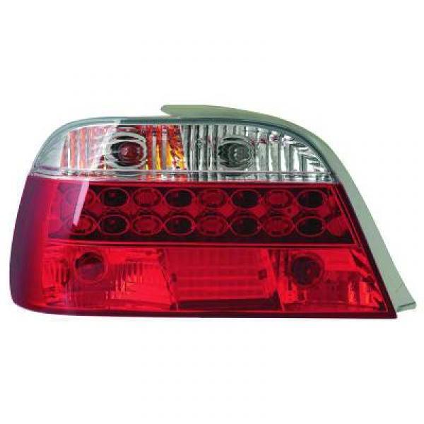 jeu droit gauche de feu arri res design rouge blanc led e38 4 portes 94 01 4 portes pour. Black Bedroom Furniture Sets. Home Design Ideas